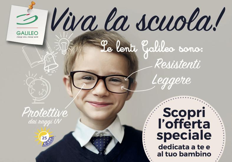 Promozione Galileo Viva La Scuola settembre 2017 Ottica Severi coupon