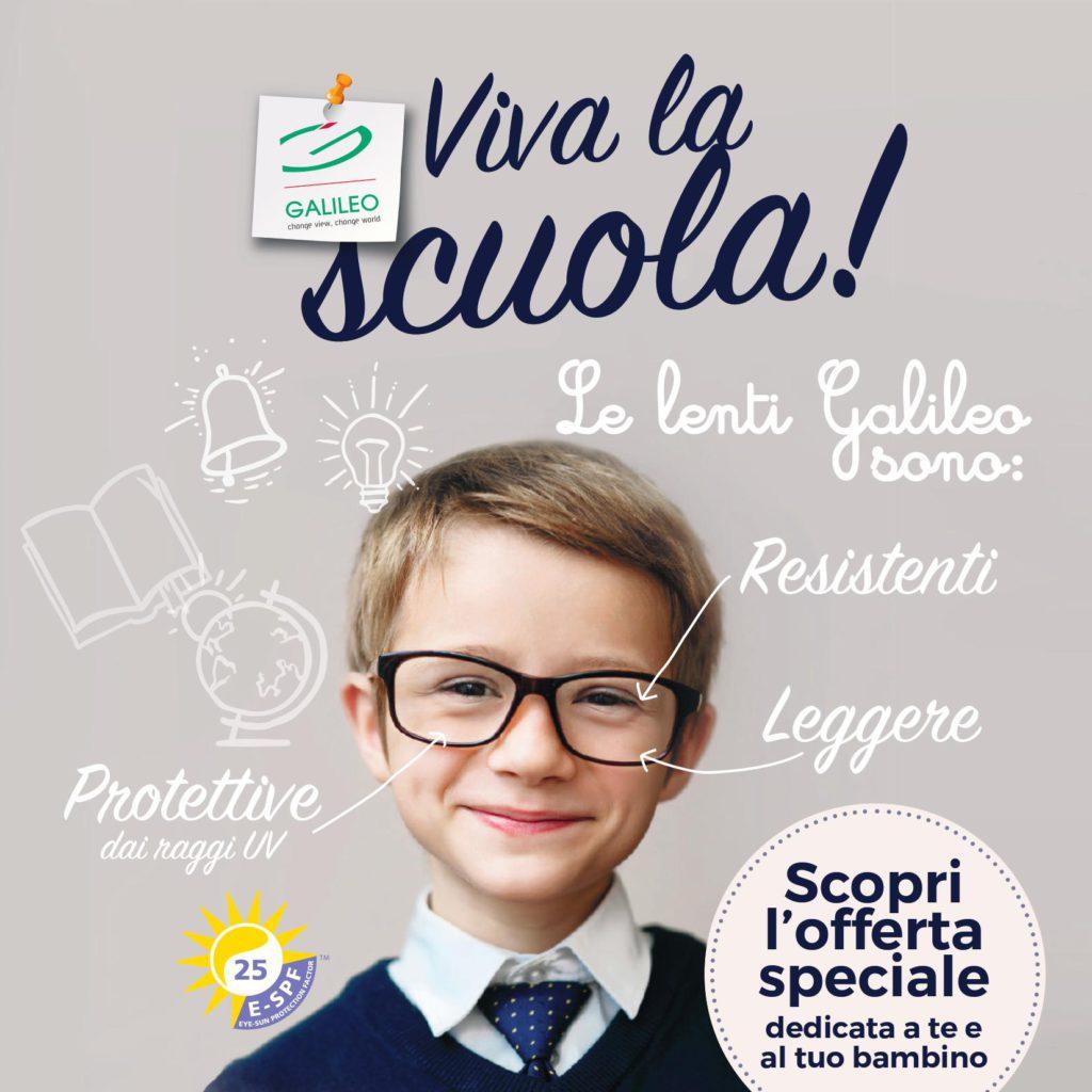 Promozione Galileo Viva La Scuola settembre 2017 Ottica Severi